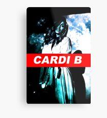 Cardi B- Blue  Metal Print