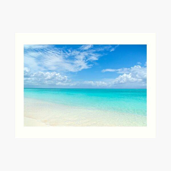 Seascape in Grace Bay, Turks & Caicos Art Print