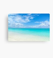 Seascape in Grace Bay, Turks & Caicos Canvas Print