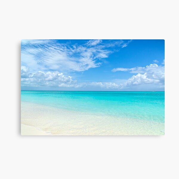 Paisaje marino en Grace Bay, Islas Turcas y Caicos Lienzo
