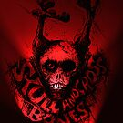 Skull 'n Cross Bones..Red by Tom Godfrey
