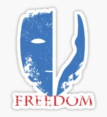 Blue Freedom Sticker
