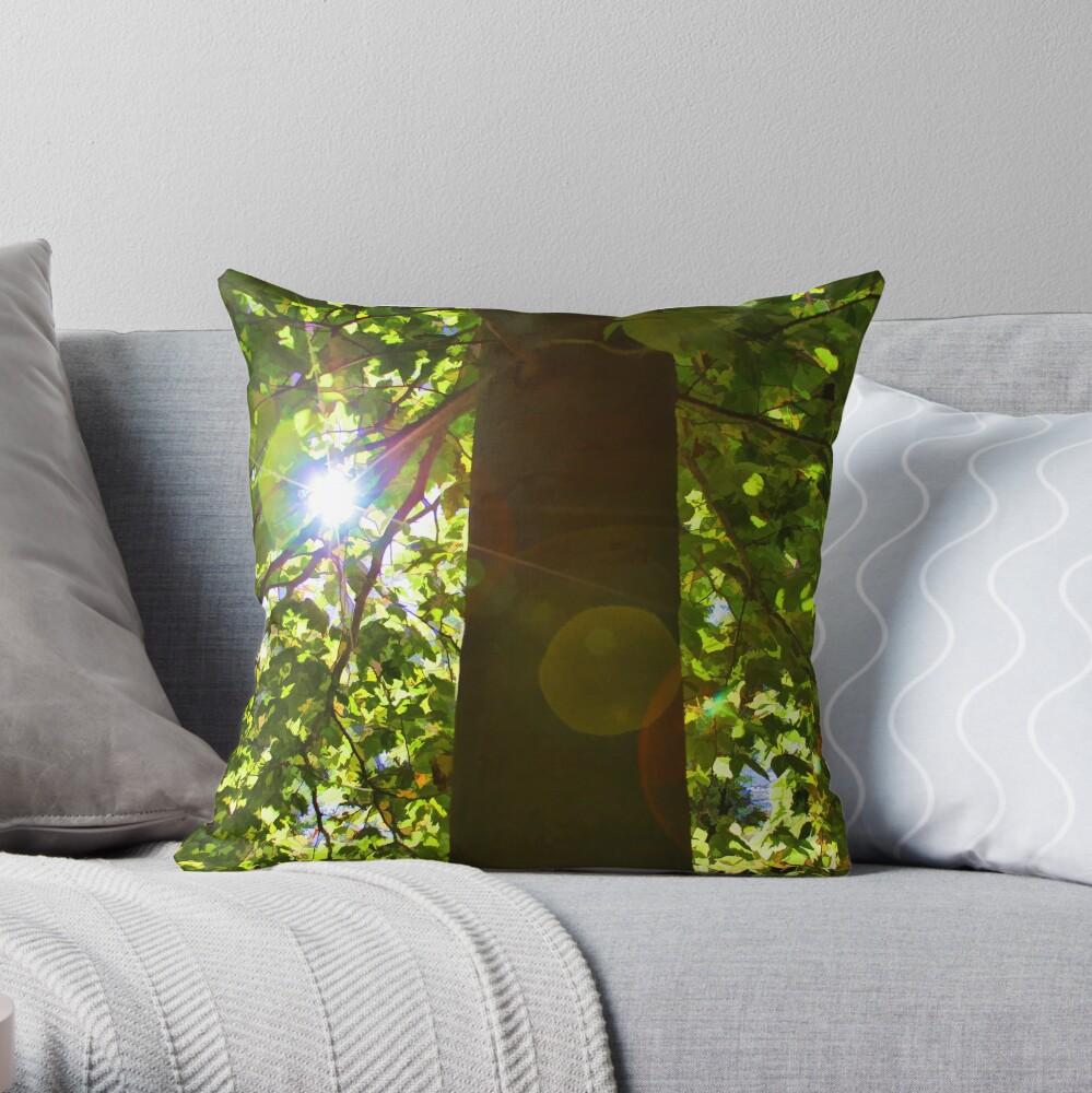 Tree of Light Throw Pillow