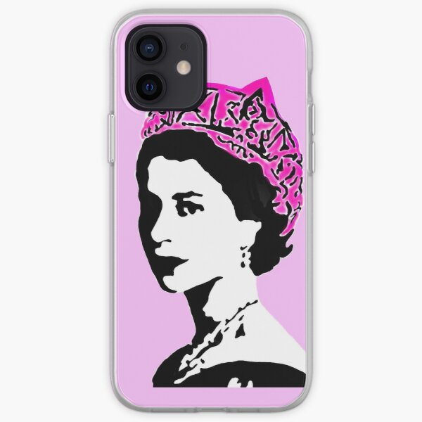 The Queen and pop art feminism  iPhone Soft Case