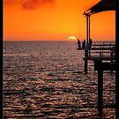 Gone Fishing (vertical on black) by Ray Warren