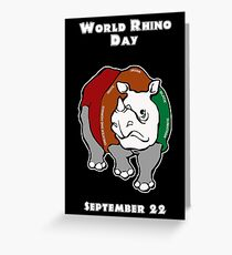 World Rhino Day Greeting Card