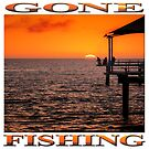 Gone Fishing (square on white) by Ray Warren