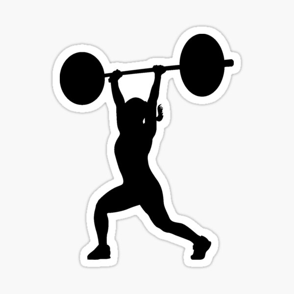 Black Split Jerk Sticker