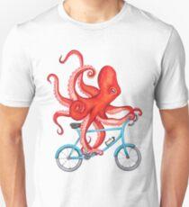 Radfahren Octopus, der Chlotes läuft Slim Fit T-Shirt
