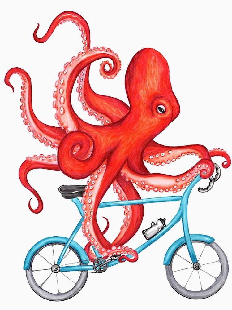 Radfahren Octopus, der Chlotes läuft von jeremmynetty