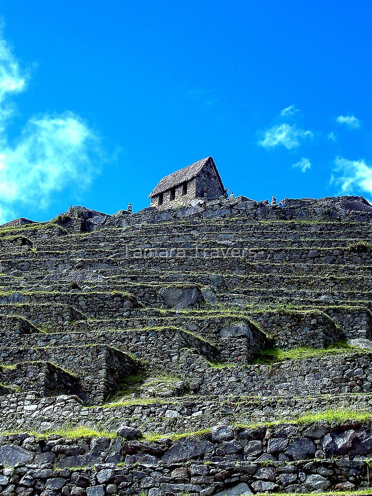 Machu Picchu lookout house by Tamara Travers
