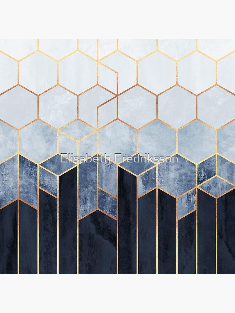 Soft Blue Hexagons by foto-ella