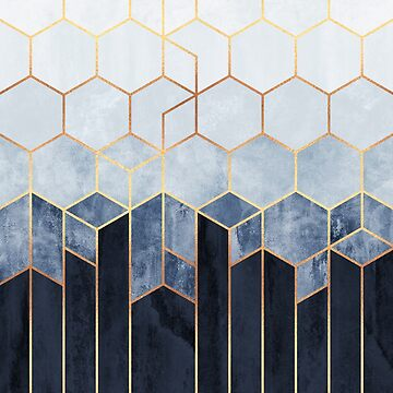 Soft Blue Hexagons by foto-ella