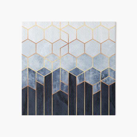 Soft Blue Hexagons Art Board Print