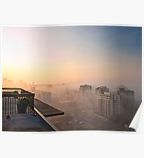 Foggy Morning in Edmonton Poster