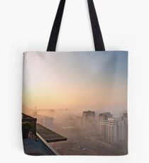 Foggy Morning in Edmonton Tote Bag