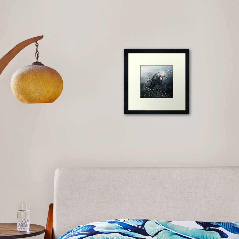 Blue Valentine Dreams Framed Art Print