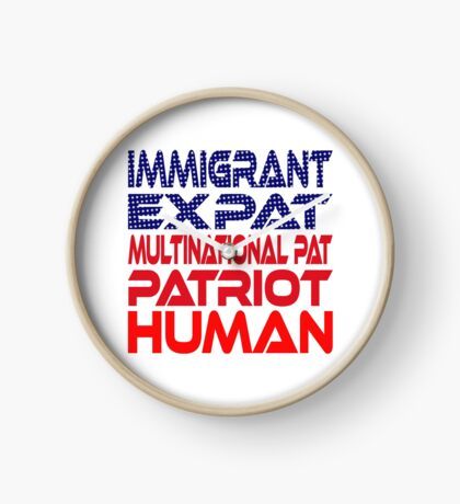 Multinational Thoughts on Our Patriotism: Immigrant Clock