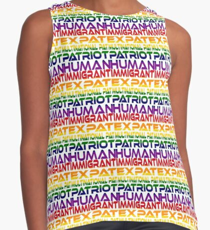 Multinational Thoughts on Our Patriotism: Immigrant (Rainbow) Contrast Tank
