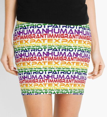 Multinational Thoughts on Our Patriotism: Immigrant (Rainbow) Mini Skirt