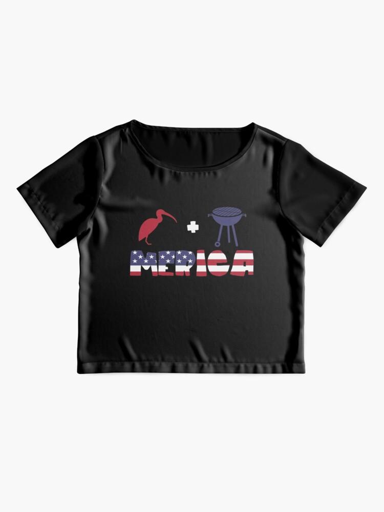Vista alternativa de Blusa Curlew plus Barbeque Merica American Flag