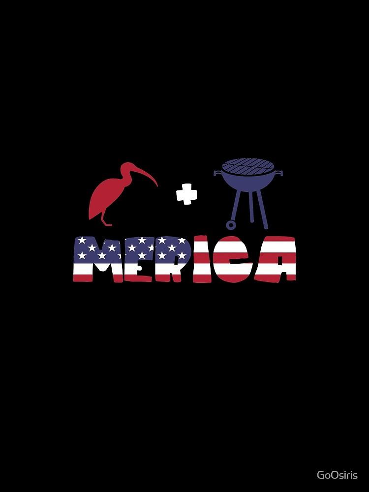 Curlew plus Barbeque Merica American Flag de GoOsiris