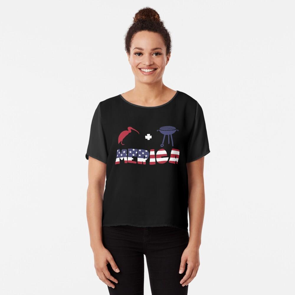 Curlew plus Barbeque Merica American Flag Blusa