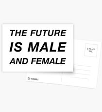 The Future is Male and Female Postcards
