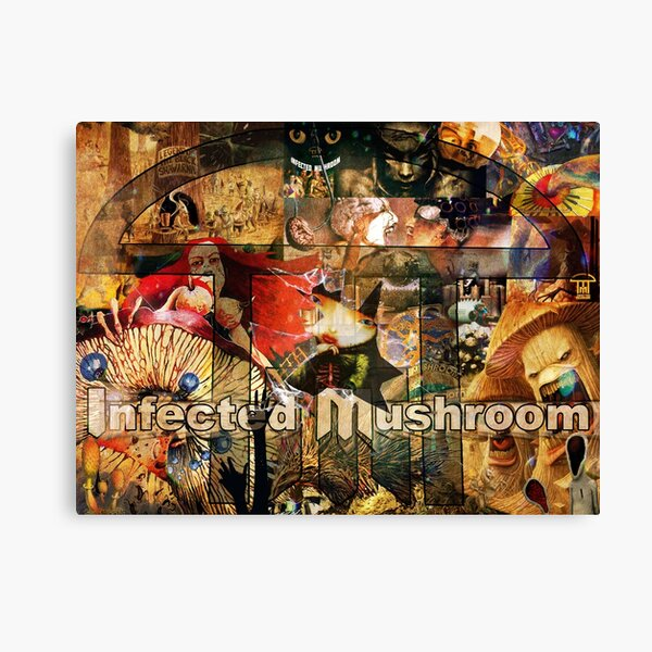 Infected Mushroom Collage Canvas Print