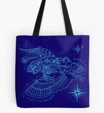 Steampunk Puffin Blueprint Tote Bag