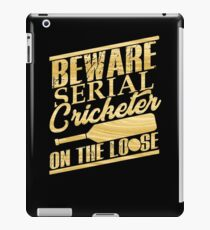 Cricket Player Serial Cricketer on the Loose iPad Case/Skin