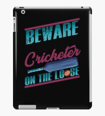 Cricket Lover Serial Cricketer on the Loose iPad Case/Skin