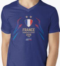 France Champion Du Monde 2018 • Les Bleus • Football World Cup Champion 2018 ID 1-1 Men's V-Neck T-Shirt
