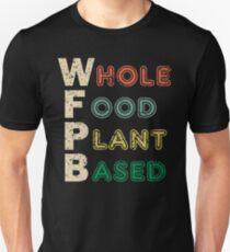 WFPB Whole Food Plant Based Retro Design Unisex T-Shirt