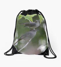 A Pair Of Gray Catbirds. Drawstring Bag