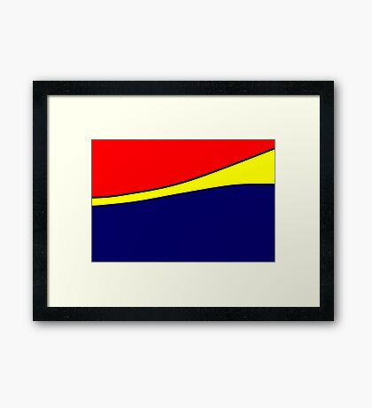 Blue Yellow Red Framed Print
