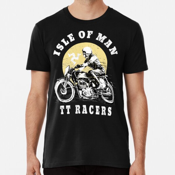 Isle Of Man TT Manx Flag Retro Vintage Biker Racing Premium T-Shirt