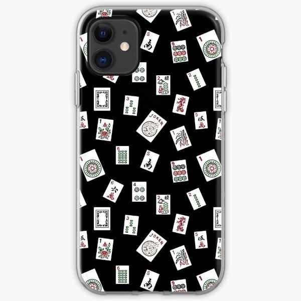 Black Mahjong iPhone Soft Case