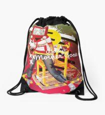 bird bate Drawstring Bag
