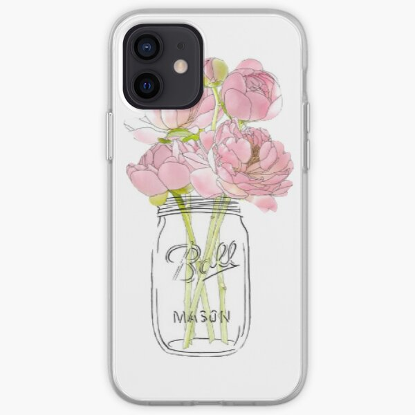 Flowers in Mason Jar iPhone Soft Case