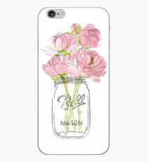 Vinilo o funda para iPhone Flores en Mason Jar