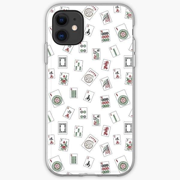 White Mahjong iPhone Soft Case
