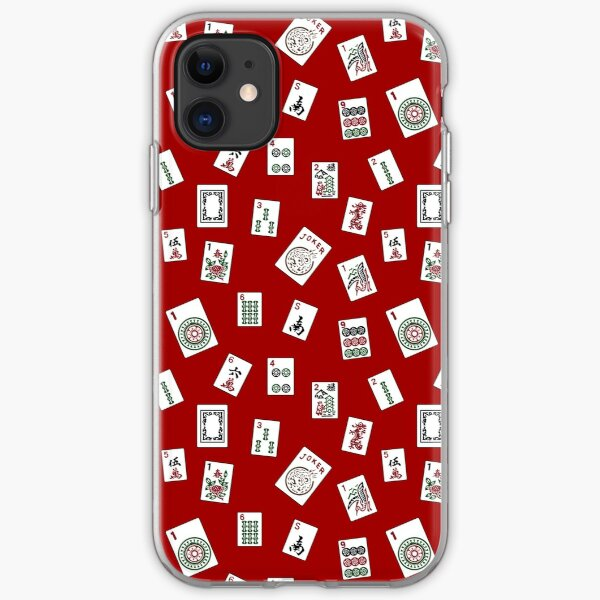 Red Mahjong iPhone Soft Case