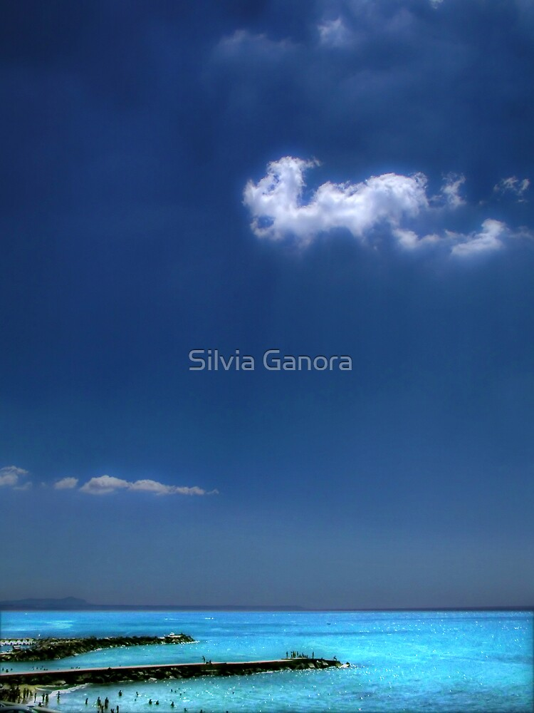 Cloud over the pier by Silvia Ganora
