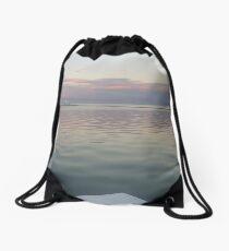 Merewether Sunset in Winter Drawstring Bag