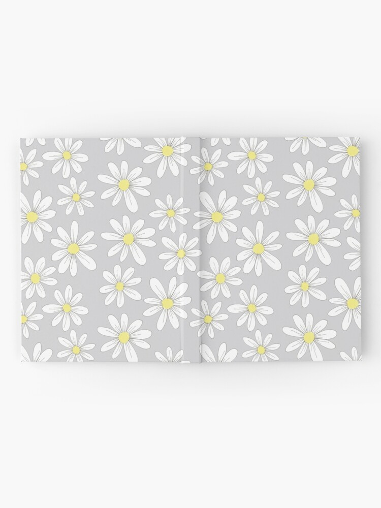 Alternate view of simple daisies on gray Hardcover Journal