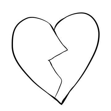 XXX Broken Heart Face Tattoo by aprilkristiine