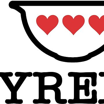 I Love Pyrex - Vintage Mixing Bowl with Red Hearts (Black) by smokykitten