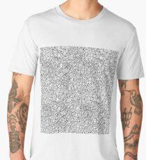 Scalloped black and white pattern Men's Premium T-Shirt