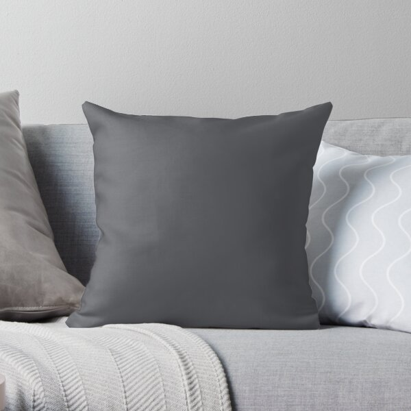 EXCALIBUR GRAY EXCALIBUR GREY  GREY TONES   GREY HUES - OVER 100 SHADES OF GREY AND SILVERS ON OZCUSHIONS Throw Pillow